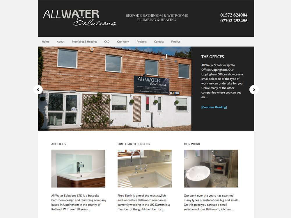All Water Solutions Website