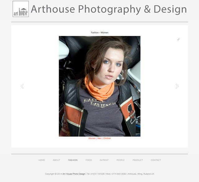 Art House Photo Design Website by Rutlandweb Portrait