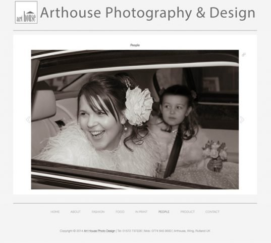 Art House Photo Design Website by Rutlandweb Wedding Image