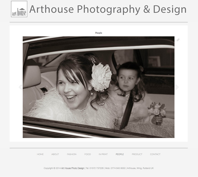 Art House Photo Design Website by Rutlandweb Wedding Image