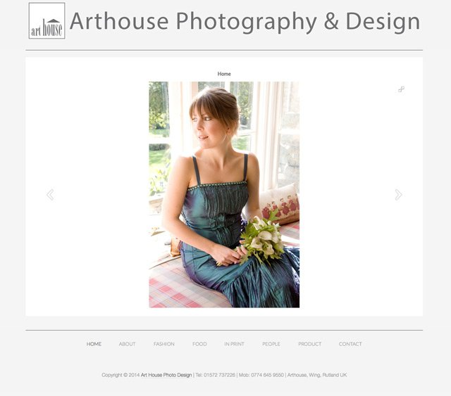 Art House Photo Design Website by Rutlandweb Portraits