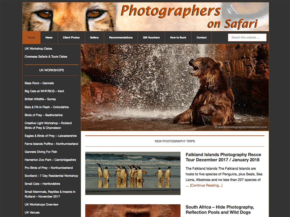 Photographers On Safari Website
