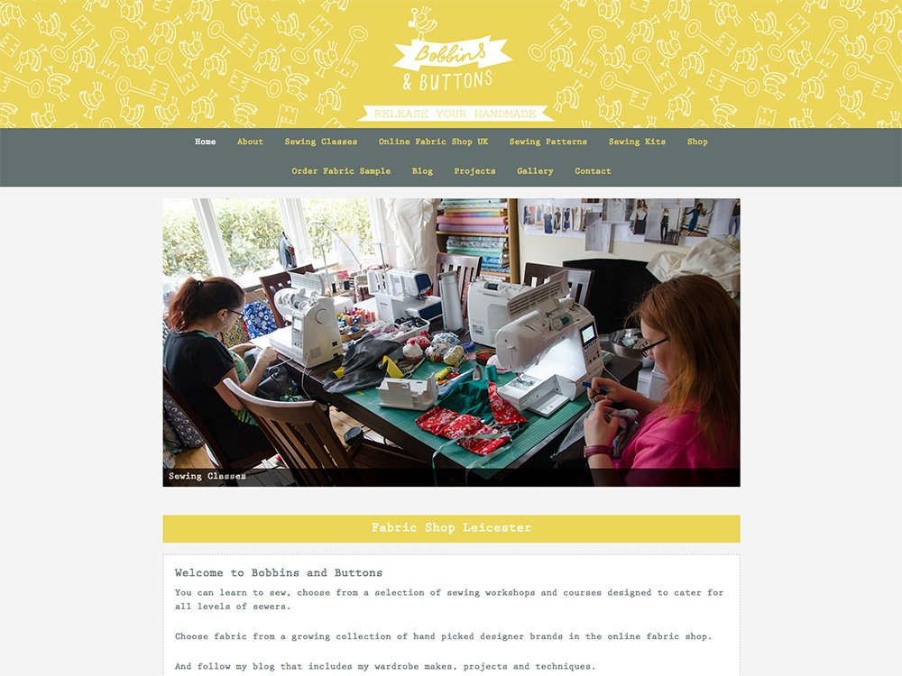 Bobbins And Buttons Website
